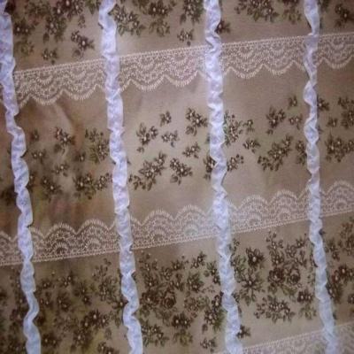 Jersey coton imprime avec rajout de rubans