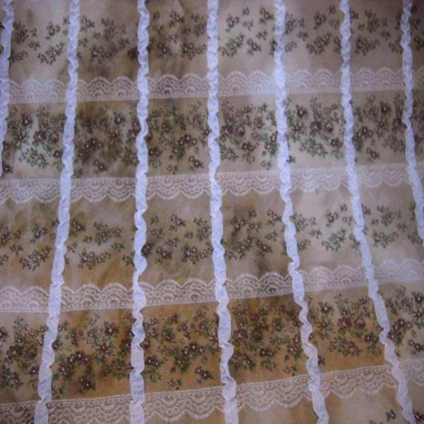 Jersey coton imprime avec rajout de rubans3