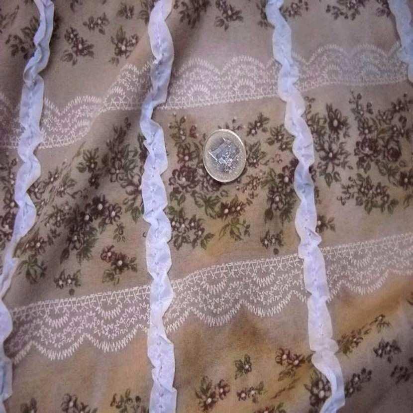Jersey coton imprime avec rajout de rubans8