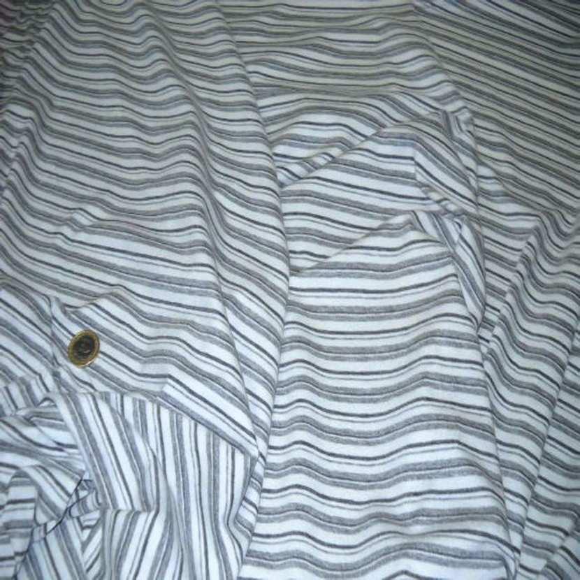 Jersey coton lycra blanc imprime rayures grise02