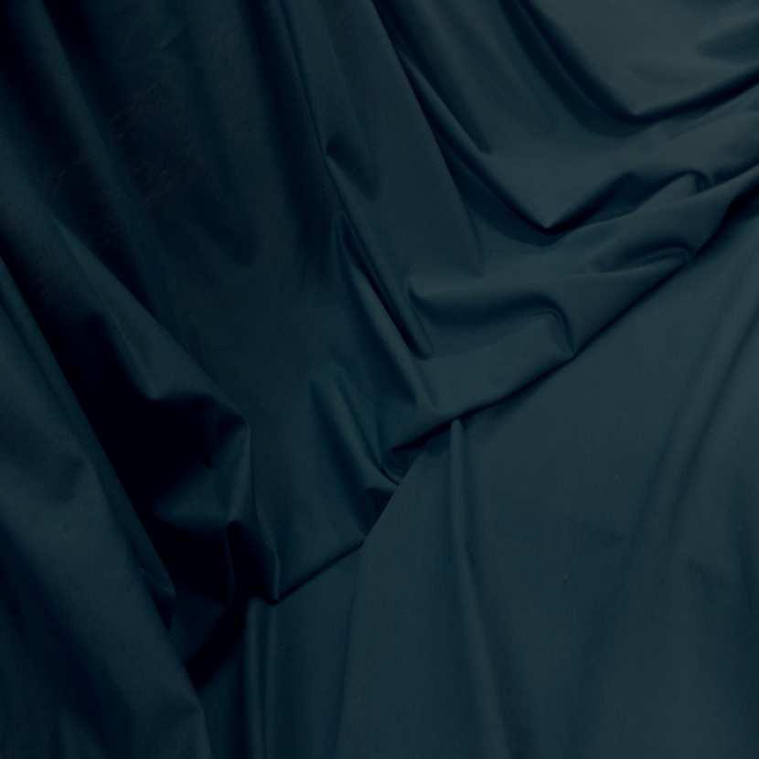 Jersey coton lycra bleu petrole
