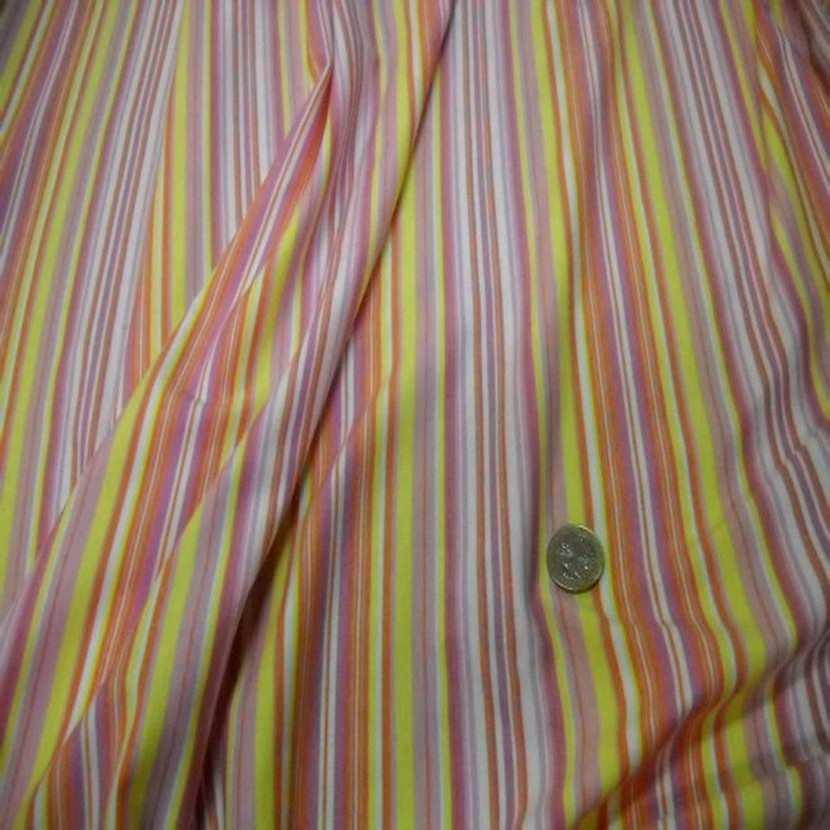 Jersey coton lycra imprime rayures ton jaune orange4