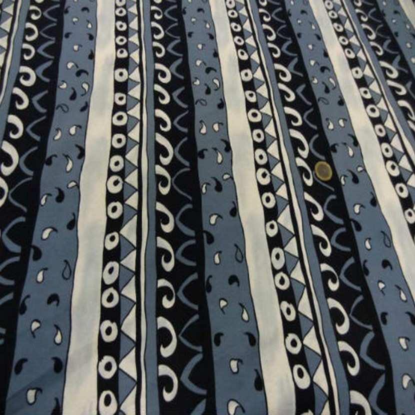 Jersey coton lycra imprime ton gris a bandes0 1