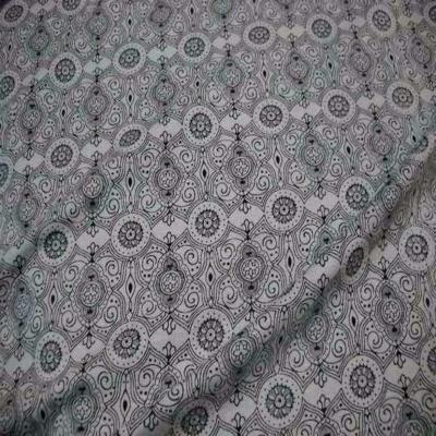 Jersey coton lycra imprime ton gris