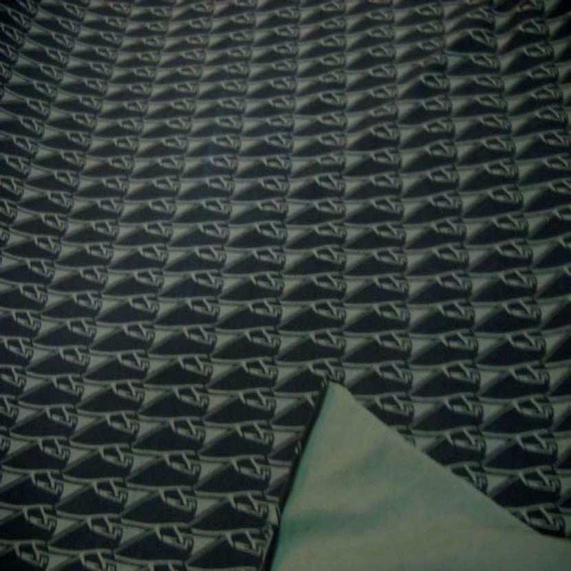 Jersey coton lycra imprime ton vert9