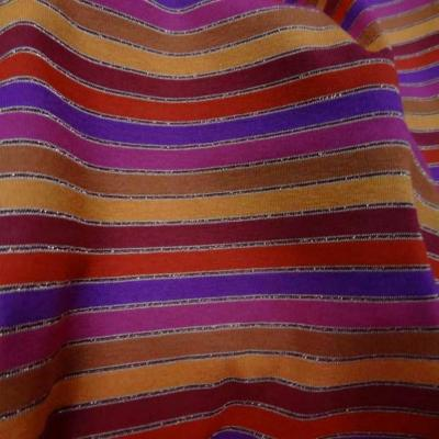 Jersey coton lycra lurex a rayures