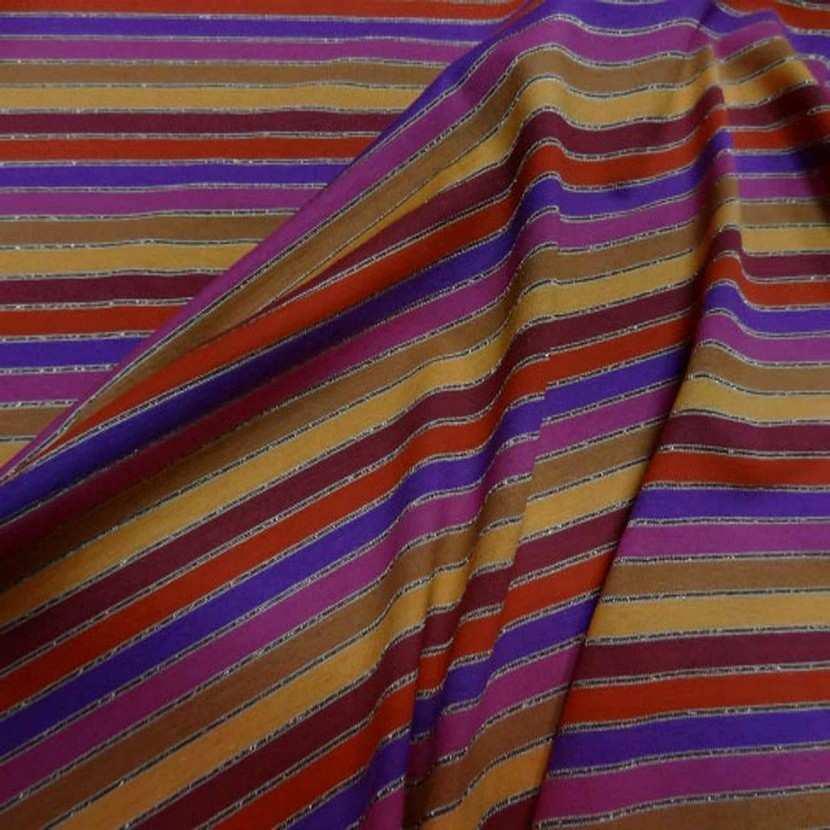 Jersey coton lycra lurex a rayures2