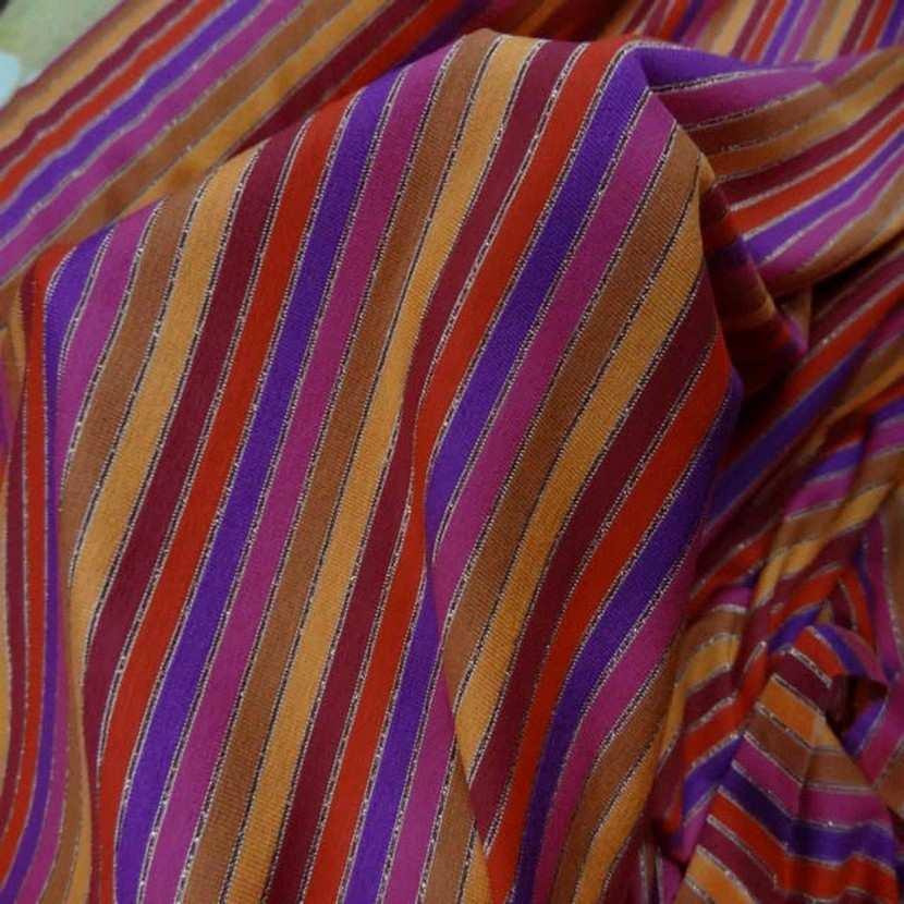 Jersey coton lycra lurex a rayures6