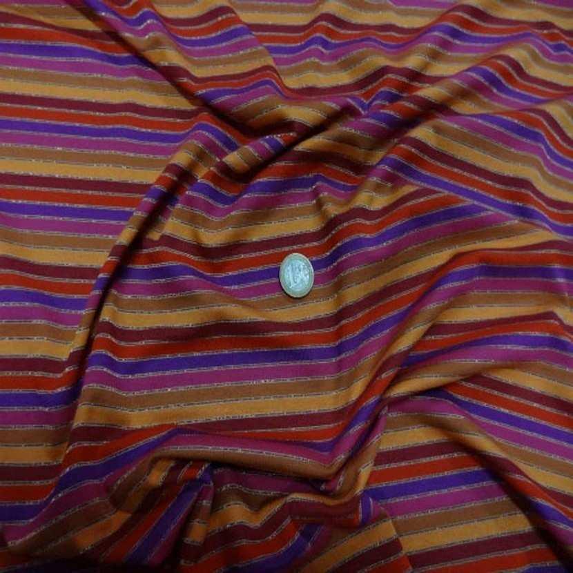 Jersey coton lycra lurex a rayures8