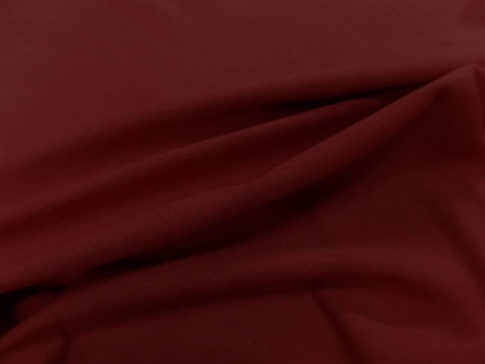 Jersey coton lycra ton rouge