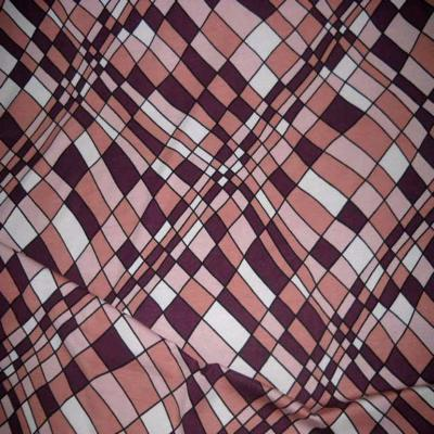 Jersey coton lycra violet vieux rose