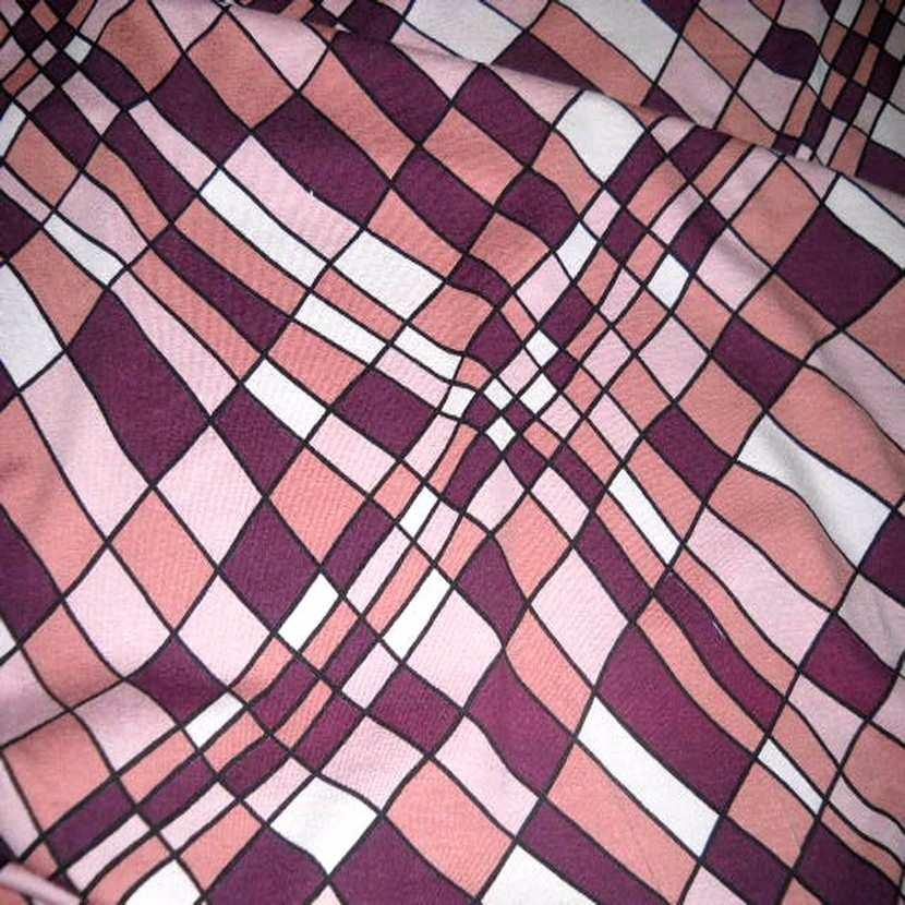 Jersey coton lycra violet vieux rose3