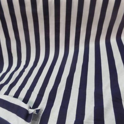Jersey coton raye bleu marine et blanc