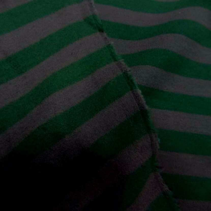 Jersey coton raye vert et gris08