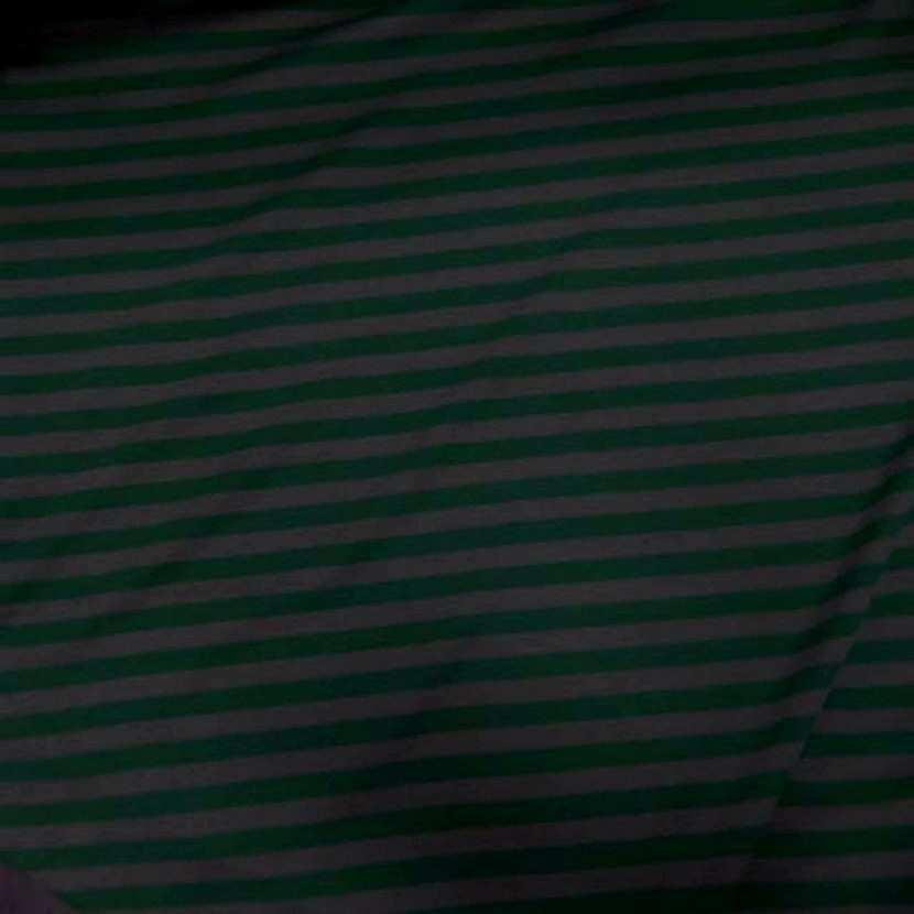 Jersey coton raye vert et gris7