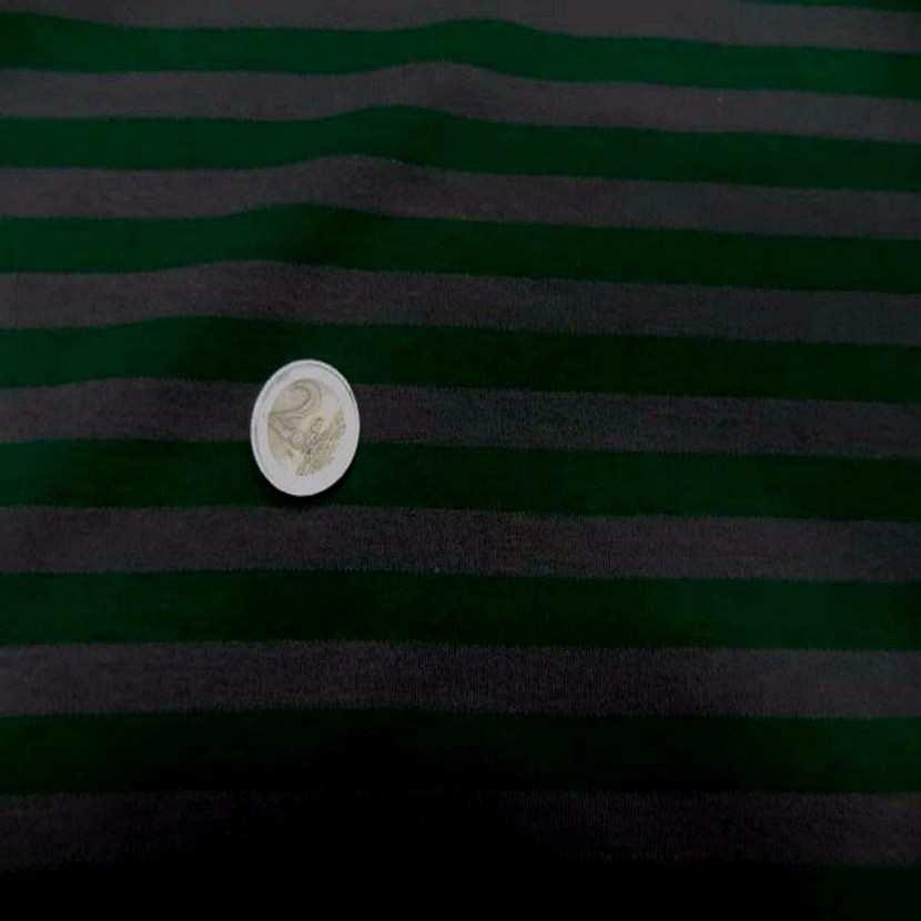 Jersey coton raye vert et gris8