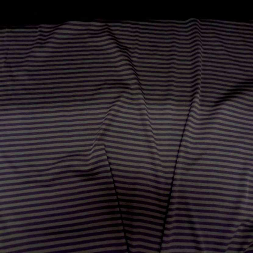 Jersey coton raye violet gris1