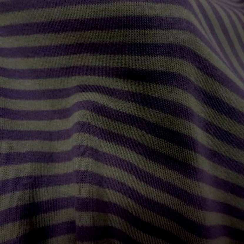 Jersey coton raye violet gris2
