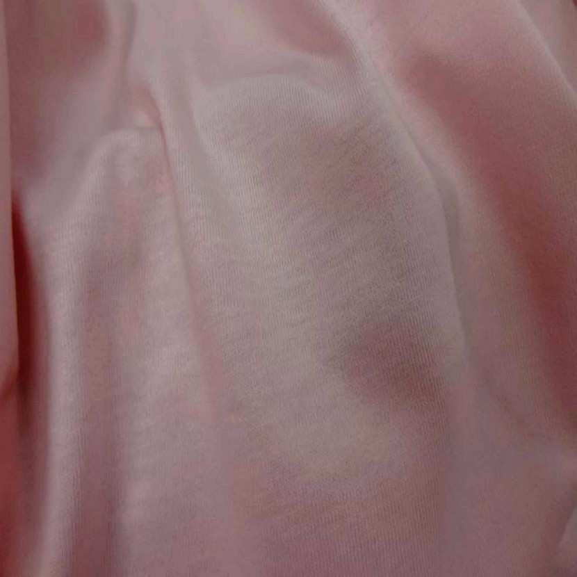 Jersey coton rose clair7