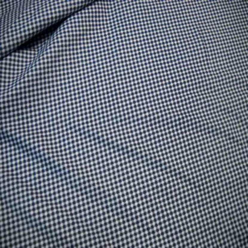 Jersey coton ton bleu marine blanc imprime vichy05