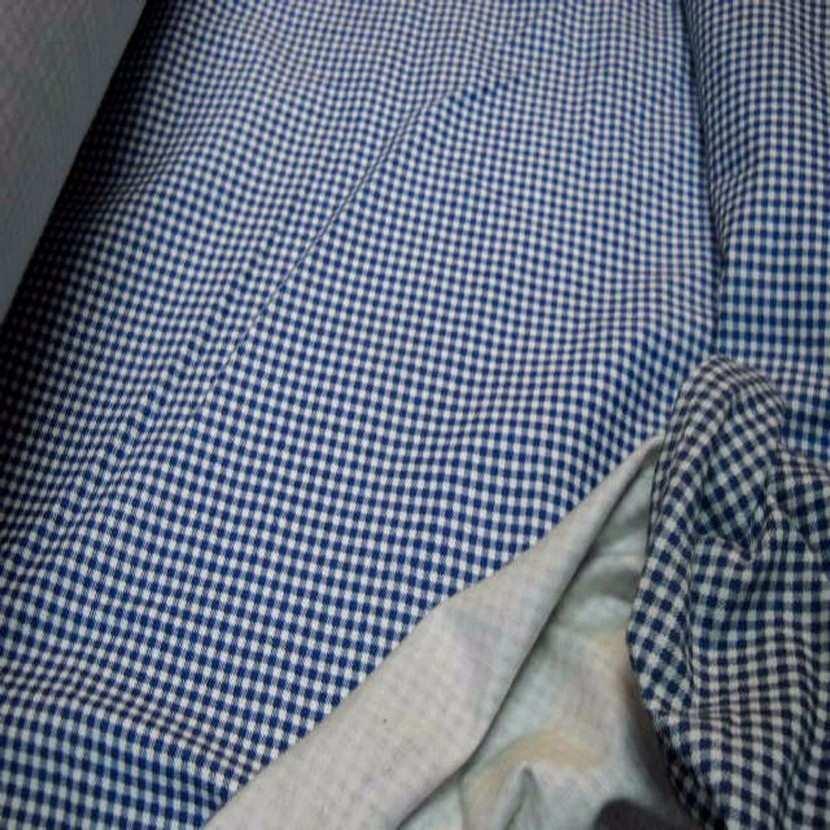 Jersey coton ton bleu marine blanc imprime vichy9