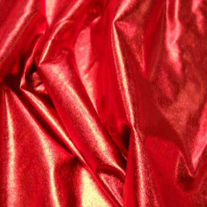 Jersey fin lame rouge en 1 50m de large