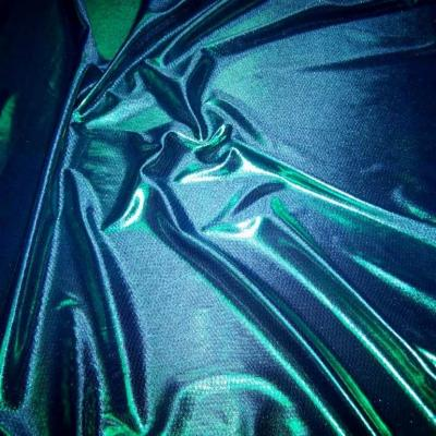 Jersey laser ton bleu reflets vert