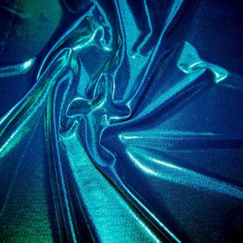 Jersey laser ton bleu reflets vert5