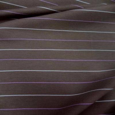Jersey lycra taupe raye