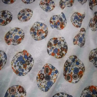 Jersey melange blanc imprime