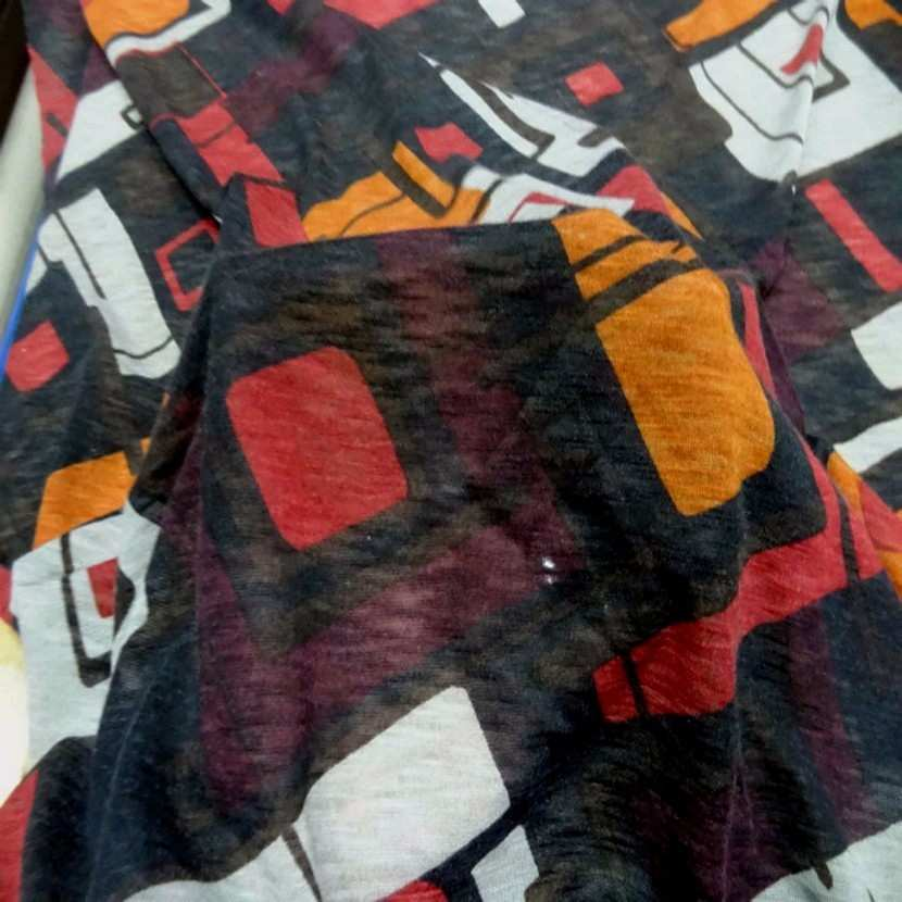 Jersey melange imprime ton marron orange blanc3