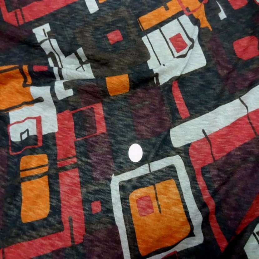 Jersey melange imprime ton marron orange blanc5 1