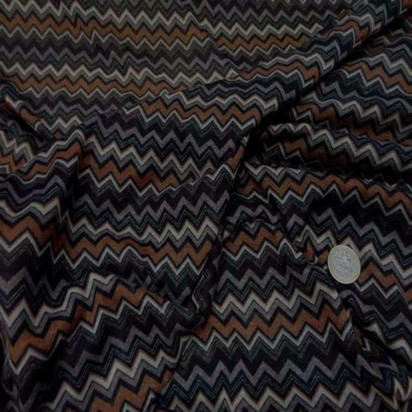 Jersey melange ton noir marron imprime06