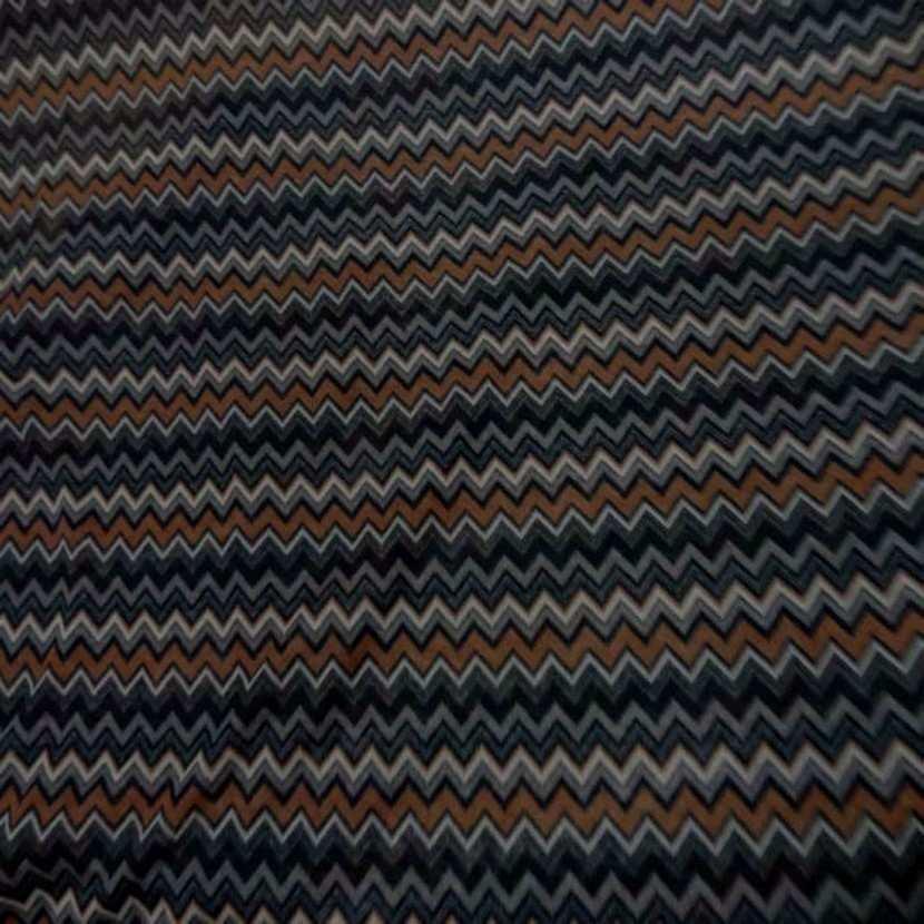 Jersey melange ton noir marron imprime6