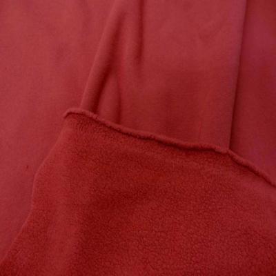 Jersey molleton pour jogging ton rouge cardinal