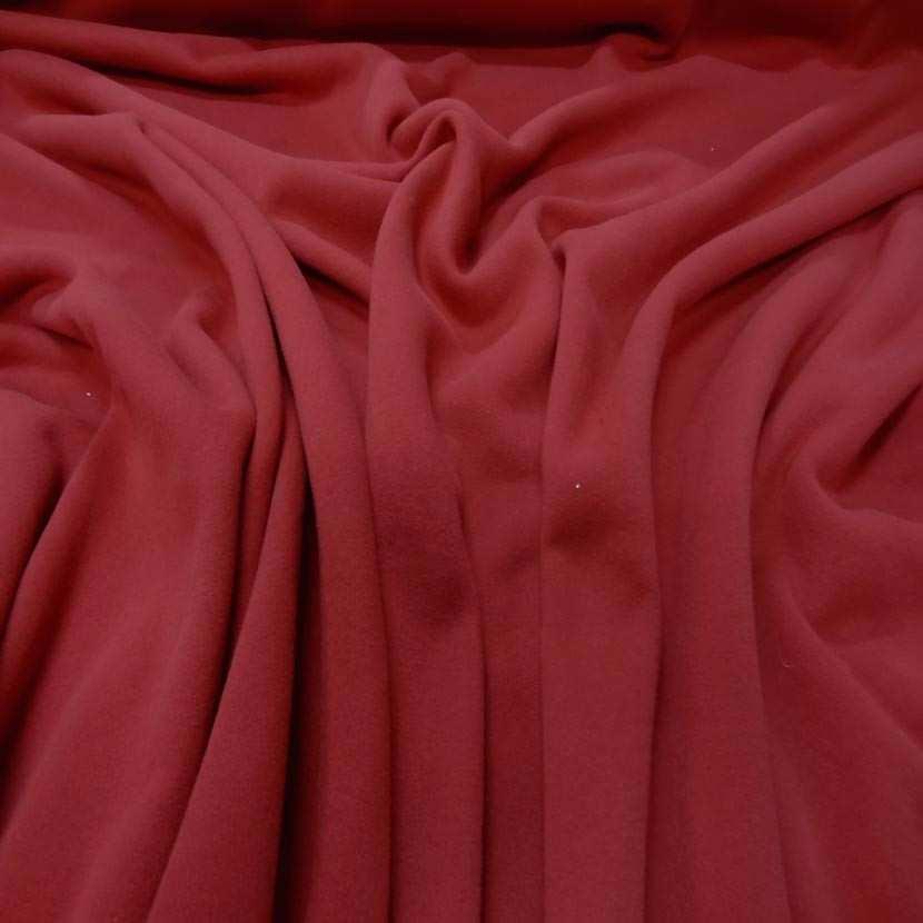 Jersey molleton pour jogging ton rouge cardinal8