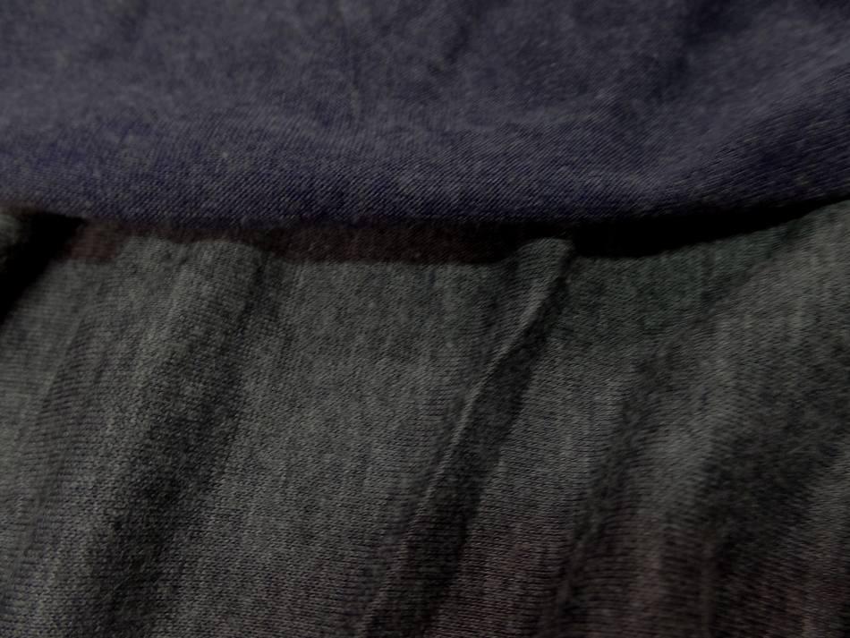 jersey viscose lycra double face gris et bleu chiné