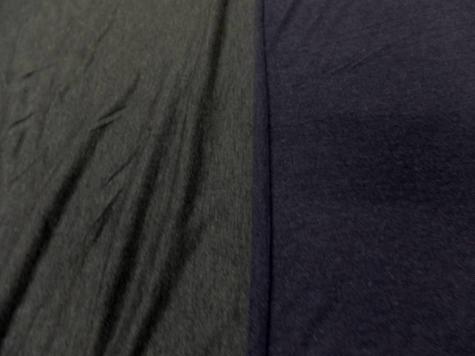 tissu jersey viscose lycra double face gris et bleu chiné