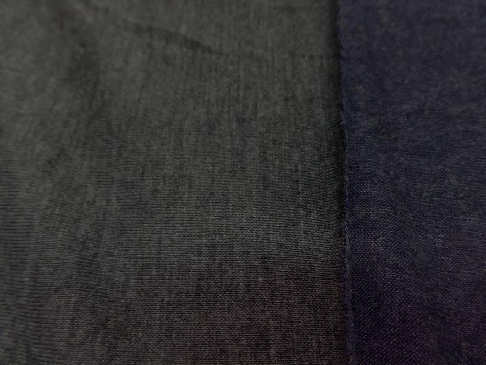 achat jersey viscose lycra double face gris et bleu chiné