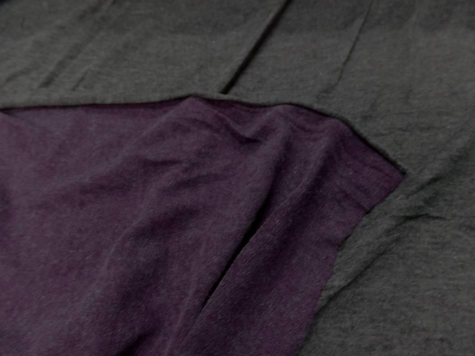 vente de Tissu jersey viscose lycra double face gris et violet chiné