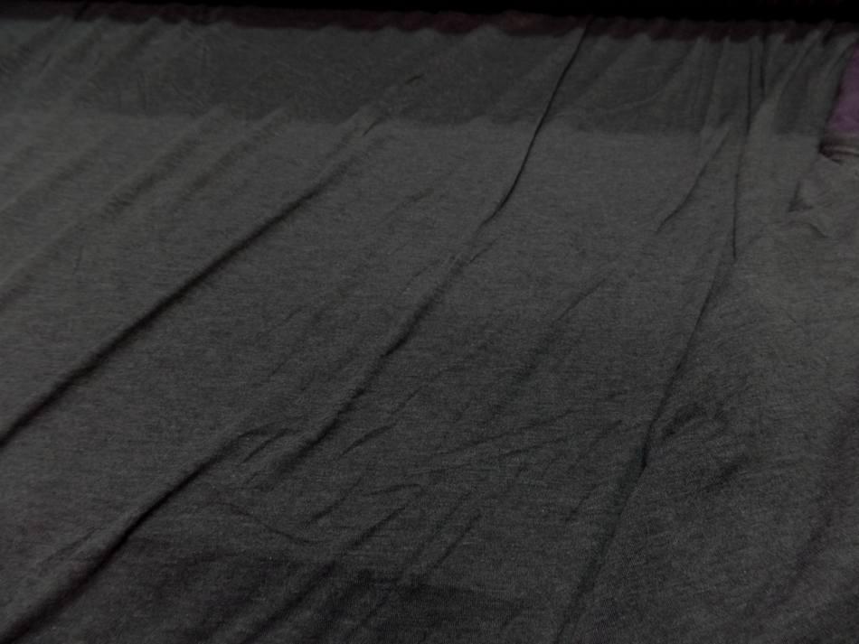 jersey viscose lycra double face gris et violet chiné