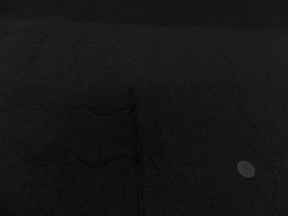 Laine bouillie façonné vert kaki foncé