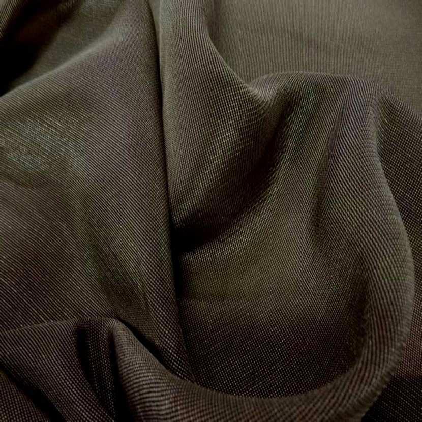 Lame lurex souple tisse noir et vieil or