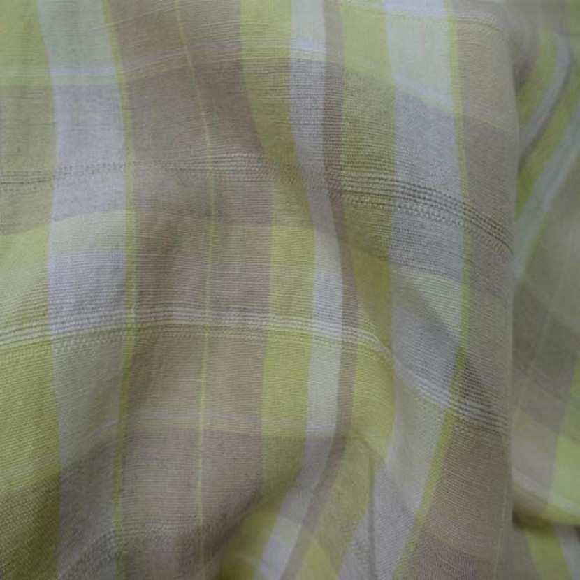 Lin a rayures beige blanc casse et jaune safran9