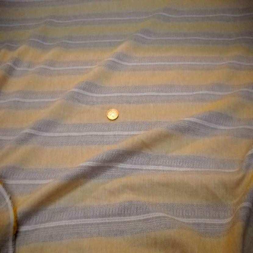 Lin a rayures beige et jaune safran5