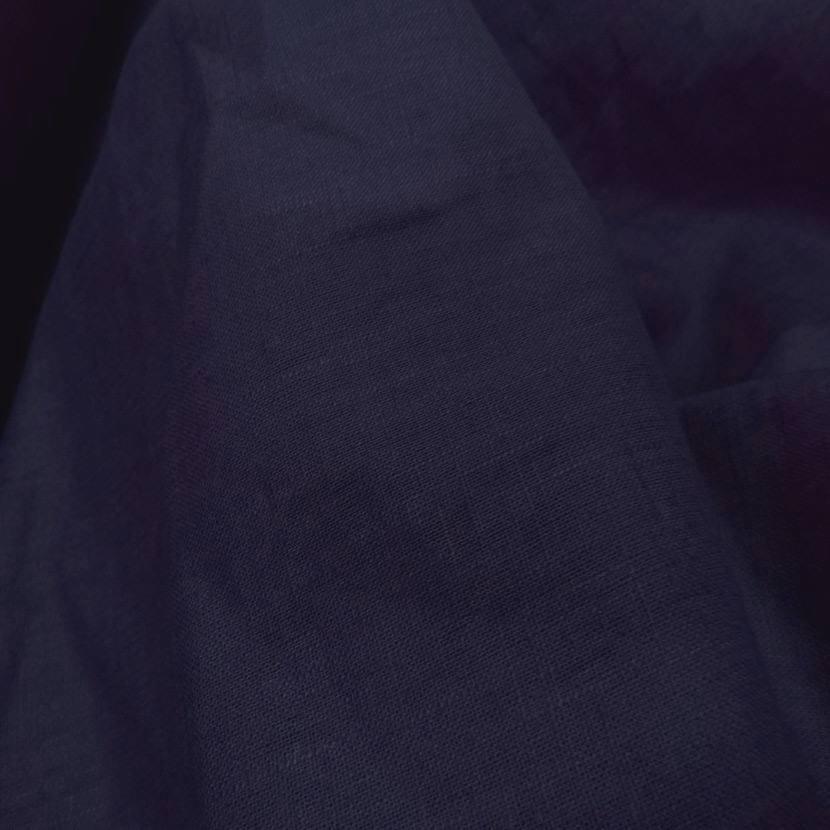 vente de tissu Lin bleu indigo pas cher