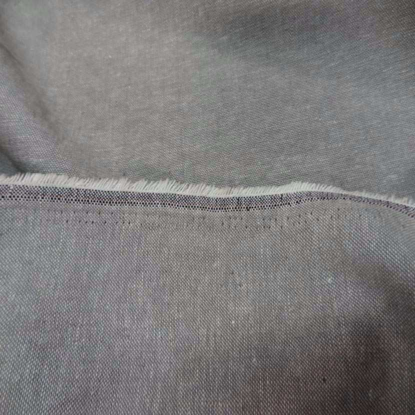 Lin chambray gris chine
