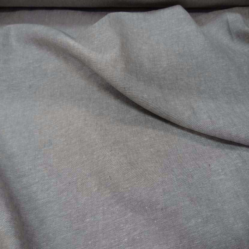 Lin chambray gris chine1