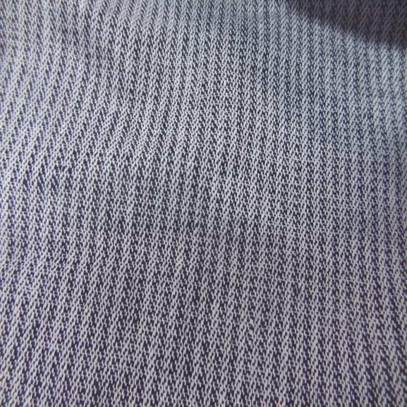 Lin chambray gris noir chine a rayures tres fine aspect chevron 0
