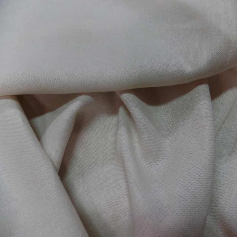Lin coton blanc casse beige tres clair